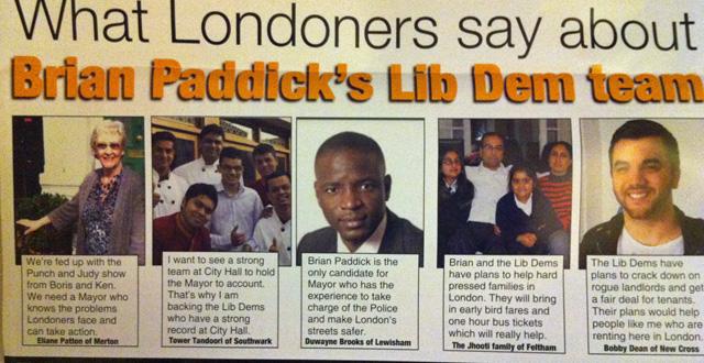 Brian Paddick's leaflet