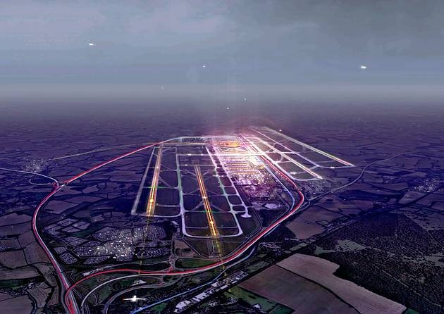 Plans for a hub airport at Stansted, by Make Architects