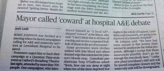 Evening Standard, 8 March 2013