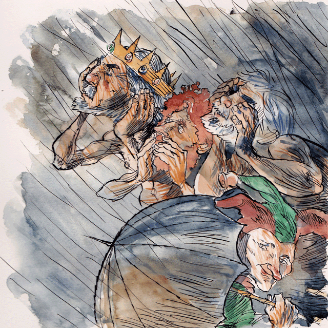 seduction and king lear theatre snipe king lear illustration by alan hindle