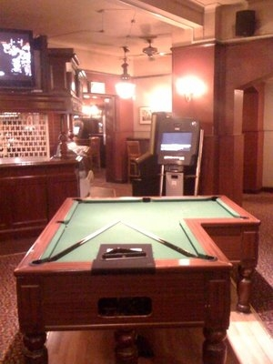 Does Anyone Know What This Lshaped Pool Table Is Doing In Homerton - L shaped pool table